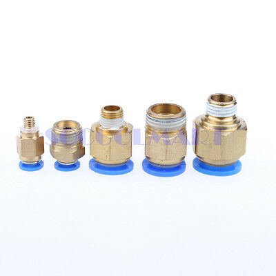"""8Pcs 1/4"""" PT Male Thread 4mm Push In Joint Pneumatic Connector Quick Fitting"""