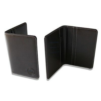 Black Golf Score Card Holder Synthetic Leather with a pencil Craftsman Golf