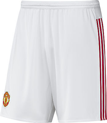 Adidas Manchester United Home Junior Football Shorts - White