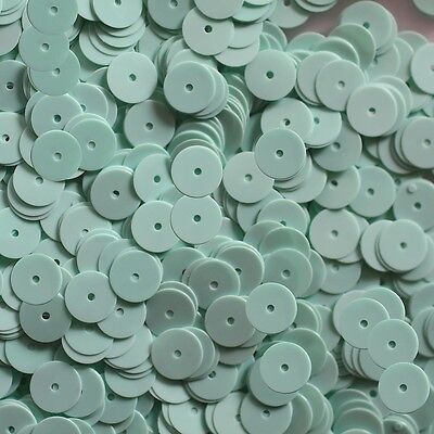 cc258ed5296a5d Loose SEQUIN 8mm Flat PAILLETTES ~ Opaque Mint Green Seafoam Shiny ~ Made  in USA