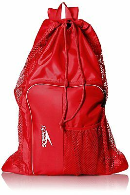 Speedo Swim Deluxe Ventilator Mesh Equipment Pool Gear Bag - Formula One Red