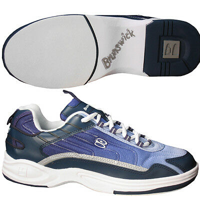 Brunswick Lazer Navy/White Womens Ten Pin Bowling Shoes - size 3 - new