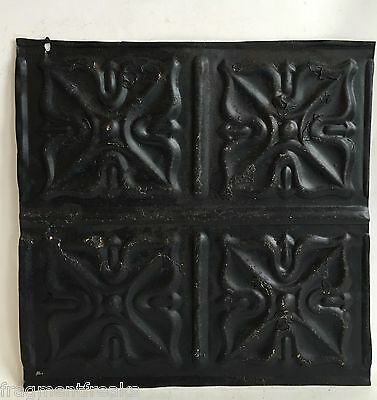 "12"" x 12"" Antique Tin Ceiling Tile Reclaimed C29a  Black *SEE SALVAGE VIDEOS*"