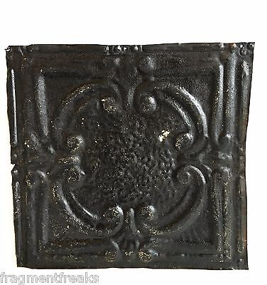 """12"""" x 12"""" Antique Tin Ceiling Tile Reclaimed C41a  Black *SEE SALVAGE VIDEOS*"""