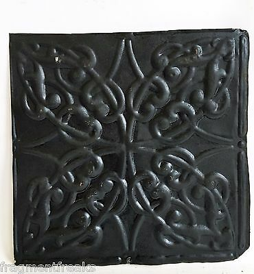 "12"" x 12"" Antique Tin Ceiling Tile Reclaimed C44a  Black *SEE SALVAGE VIDEOS*"