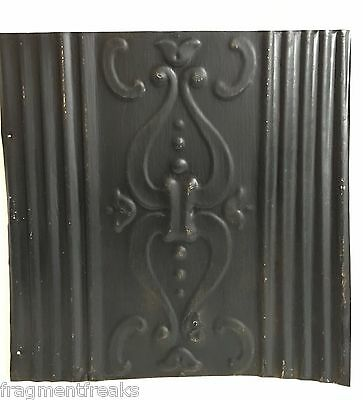 "12"" x 12"" Antique Tin Ceiling Tile Reclaimed C30a  Black *SEE SALVAGE VIDEOS*"