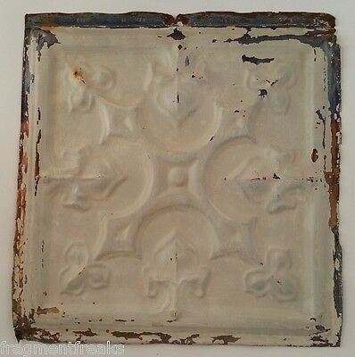 "12"" x 12"" Antique Tin Ceiling Tile *SEE OUR SALVAGE VIDEOS*  MZ3 Metal Putty"