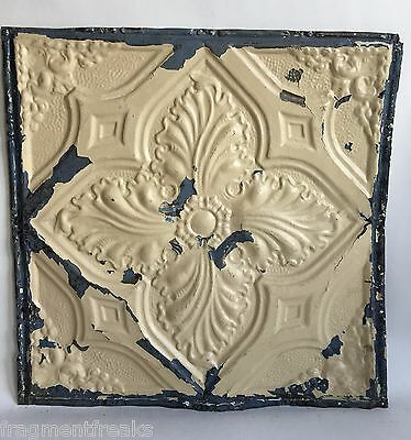 """24""""x 24"""" Antique Ceiling Tin Tan  *See Our Salvage Videos Reclaimed C24a  Metal"""