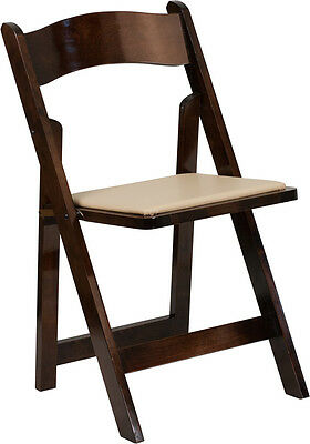 Lot Of 20 Hercules Series Fruitwood Wood Folding Chair With Vinyl Padded Seat