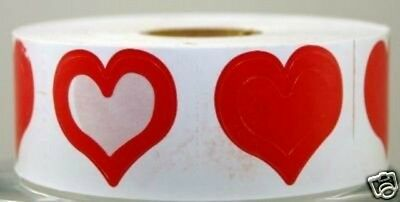 New Full Roll Of 1000 3 Way Heart Tanning Stickers