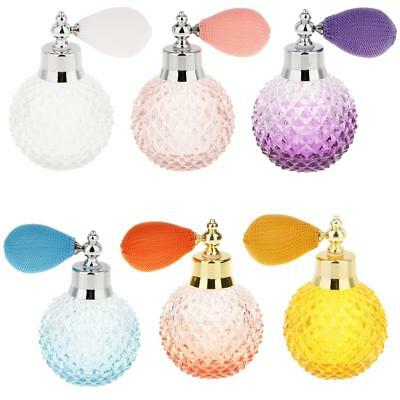 100ml Vintage Crystal Perfume Bottle 6 Colors Spray Atomizer Refillable Glass