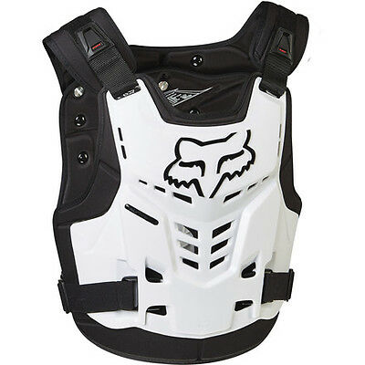 2017 Fox Racing Proframe LC Chest Protector White Roost Guard Adult All Sizes