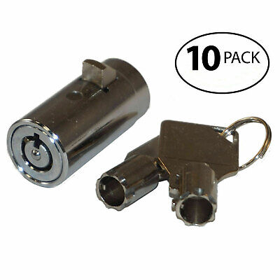 10 Universal Tubular Soda Snack Vending Machine Cylinder Plug Lock NEW