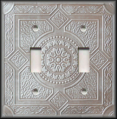 Metal Light Switch Plate Cover Design Of Stamped Metal Copper Silver Grey Decor