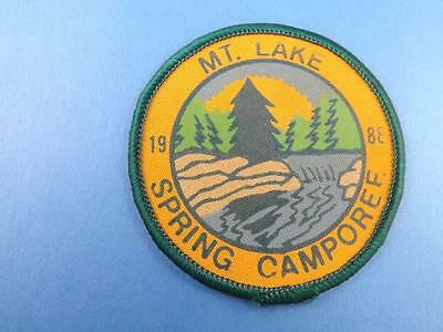 Boy Scouts Mountain Lake Spring Camporee Patch Collector Badge