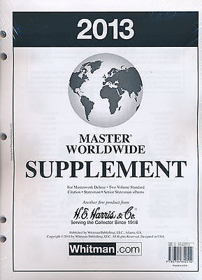 H E Harris Master Worldwide Supplement for Stamps issued in 2013