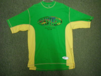 Vintage Haviton Large Mens Green & Yellow Casual Dress T Shirt.