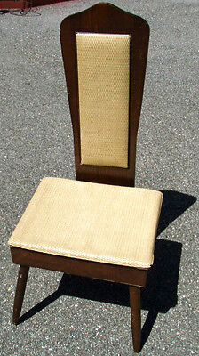 VINTAGE-1950s-NOVA BUTLER'S CHAIR/41 x17 x16/STURDY FRAME/THATCHED SEAT STORAGE