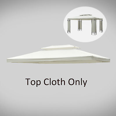 Outsunny 13'x10' Gazebo Replacement Canopy 2 Tier Waterproof Top UV Cover Garden