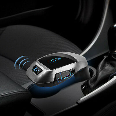 Bluetooth Car MP3 FM Wireless Transmitter USB SD AUX LCD Handsfree Charger Kit
