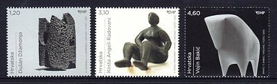 Croatia 2015 Sculptures Set 3 MNH