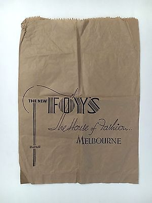 """FOY'S LARGE PAPER ADVERTISING BAG FROM 1960's THE NEW FOY'S """"THE HOUSE OF FASHIO"""