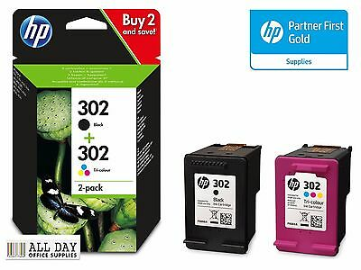 HP Original 302 Black/Tri-Colour Combo Pack (X4D37AE) Pack of 2 VAT included