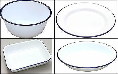 Falcon Enamel Dish Pudding Basin Plate BakePan Easy To Clean & Hard Wearing