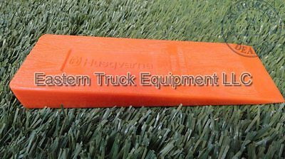 "Husqvarna Felling Bucking  Wedge 8 "" Orange Wood Grain ABS Plastic Forest Tool"
