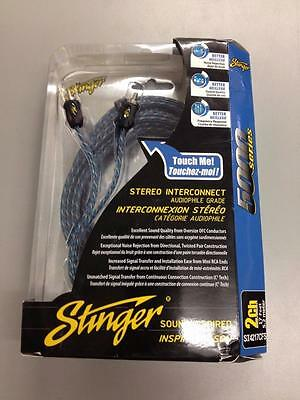 Stinger 5000 Series Audiophile 17' 2 Channel RCA Interconnects Cable SI4217CFS
