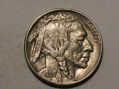 1935 Buffalo Nickel - Old Us Coin - Indian Head Bison