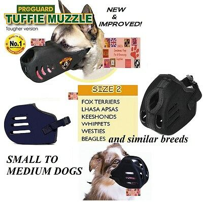 MEDIUM TUFFIE Dog MUZZLE Comfort NO BITE EXTRA HEAVY DUTY QUICK EasyFIT TRAINING