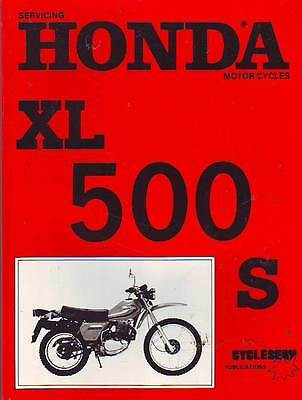 Honda Xl500S Xl500  Service Workshop Repair Manual 1980 New