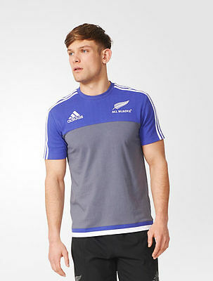 Cotton Tee All Blacks New Zealand Adidas Leisure T-shirt Grey 2016 17 Men