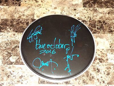Blue October Rare Authentic Band Signed Drumhead 2016 Home Tour Autographed REAL