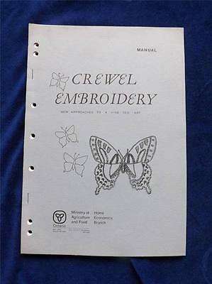 Crewel Embroidery Manual Craft Book Instruction Ministry Agriculture Food Canada