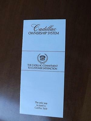 Cadillac Car Ownership System Information Brochure Flyer Commitment