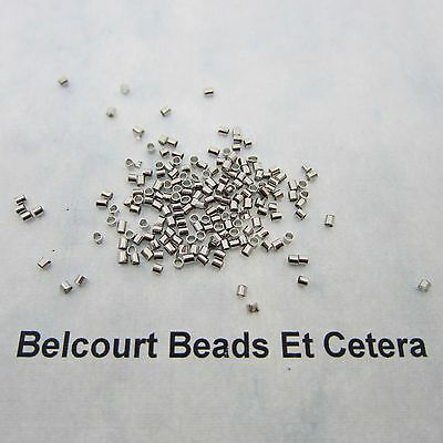 1.5mm Silver Color Crimp Tube Beads - 200 Crimp Tubes