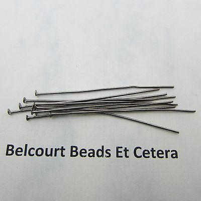"1000 - 22 GA Black Plum Tinted 2"" Headpins - Flexible - Easy to Work With"