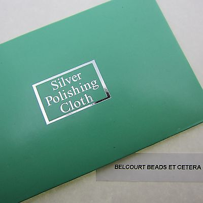 SUPER Silver Cleaning Cloth Made In England (4x2.5 Inch) Portable for Purses!