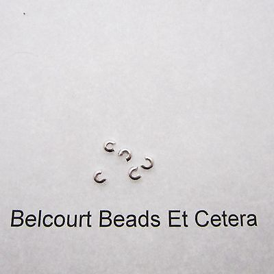 5 - 3mm Sterling Silver .925 Crimp Crimping Bead Covers Pinch Closed Easy to Use
