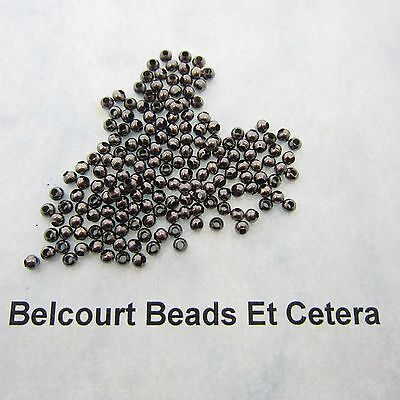 1000 Beads 2.4mm (24 Grams) Round Black Metal Copper Seed Spacer Beads