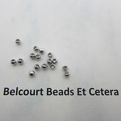 100 Stainless Steel Memory Wire End Caps - 3mm - 1.5mm Half Drilled Hole
