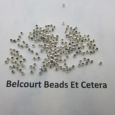 100 - 2mm Silver Plated Loose Crimp Beads