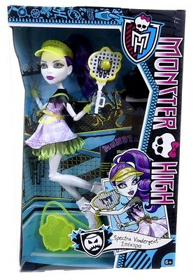 New Official Monster High Spectra Vandergeist Sports Set Accessories Doll