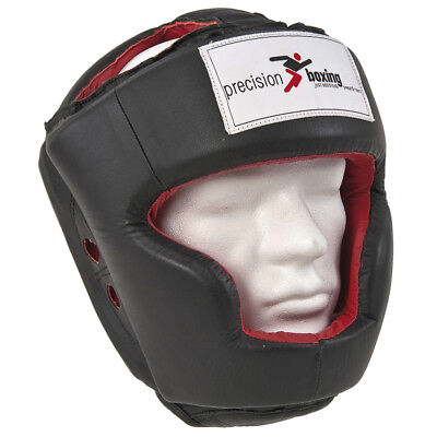 Precision Training Boxing Leather Full Face Headguard Protection rrp£48