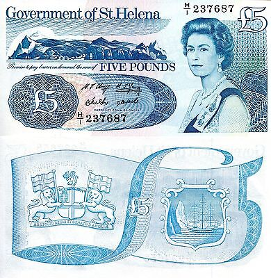 SAINT HELENA 5 Pound Banknote World Paper Money UNC Currency Note Bill p11 Queen