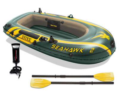 Intex Seahawk 2 Inflatable Boat Set with Paddles and Pump