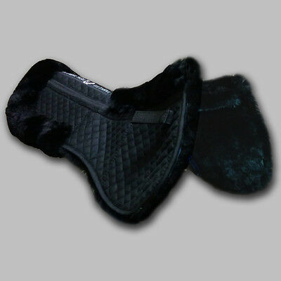NEW Total Saddle Fit Six Point WITHER FREEDOM Sheepskin Half Pad - Black