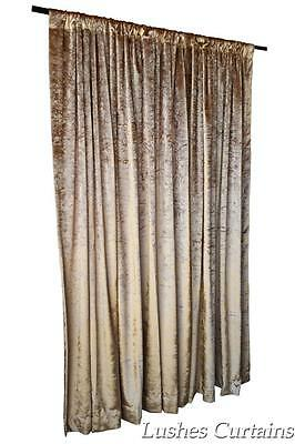 Solid Gold Velvet 11ft H Curtain Panel Theatrical Stage Custom Made Large Drape